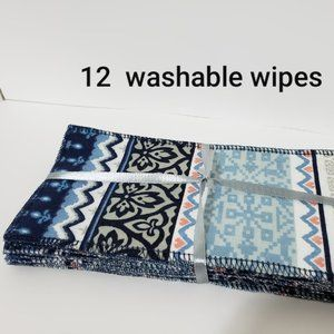 CLOTH TOILET PAPER UNPAPER REUSABLE WIPES